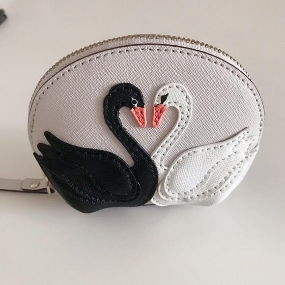 kate spade Handbags - Kate Spade Swan Coin Purse with Key Chain